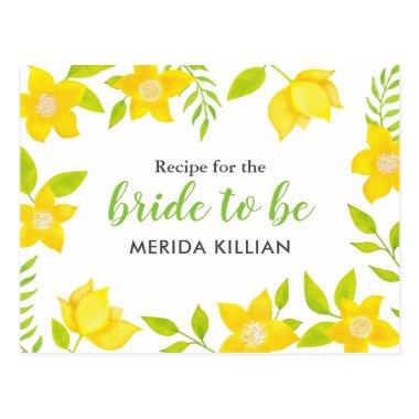 Spring Bloom | Yellow Florals | Recipe PostInvitations