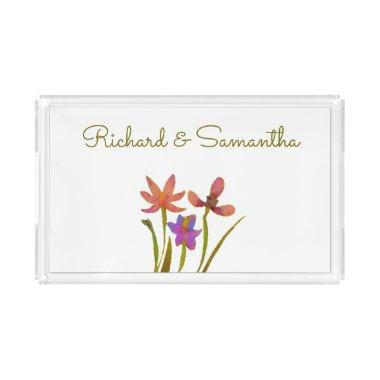 Spring Bulbs Floral Personalized Serving Tray