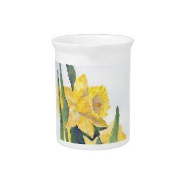Spring Daffodils Beverage Pitcher
