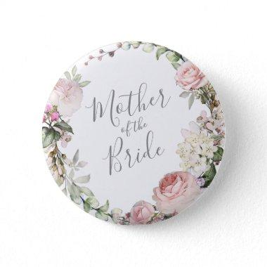 Spring Floral Mother of the Bride Button