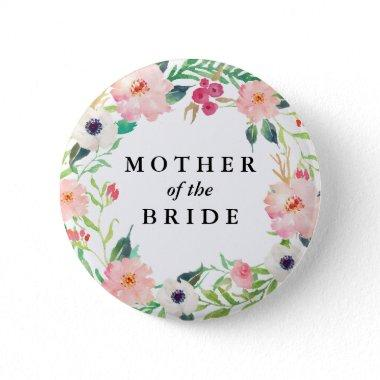 Spring Florals Mother of the Bride Wedding Button