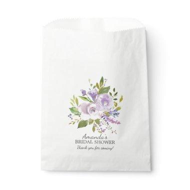 Spring Purple Lavender Floral Shower Favor Bags