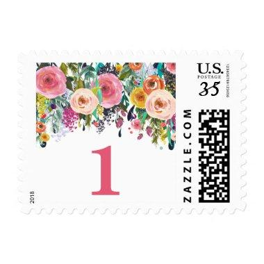 Spring Rose Garden Painted Floral Postage Stamps