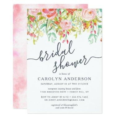 Spring Summer Floral | Bridal Shower Invitations