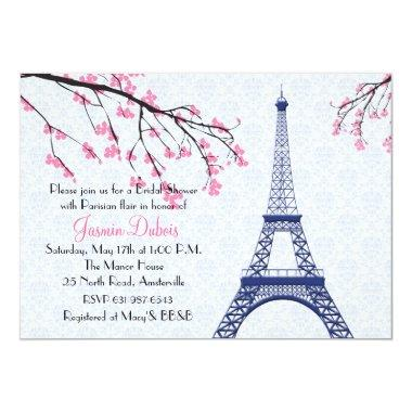 Springtime in Paris Bridal Shower Invitations