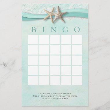 Starfish and Lace Shower Bingo