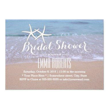 Starfish Beach Wedding Bridal Shower Invitations