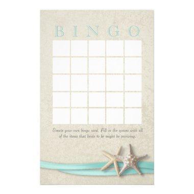 Starfish  Bingo Stationery