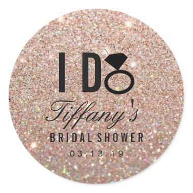 Sticker - Glitter I DO  Rose Gold