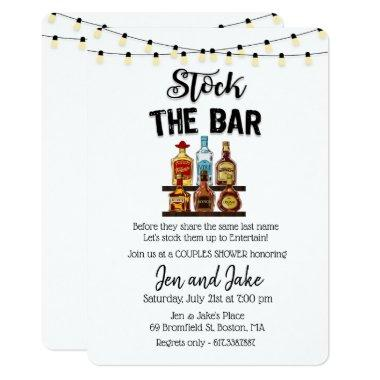 Stock the Bar Couples Coed Shower Invitations
