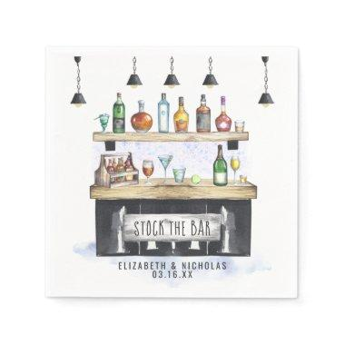 Stock the Bar | Couples Shower Personalized Napkins