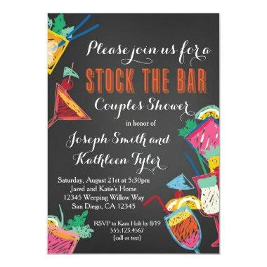 Stock the Bar Couples Wedding Shower Invitations