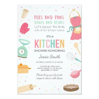Stock the Kitchen Bridal Shower Invitations Cooking