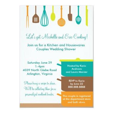 Stock the Kitchen Bridal Wedding Couples Shower Invitations