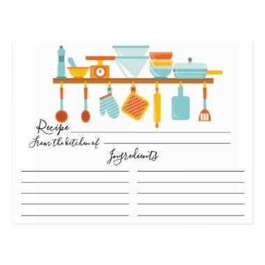 Stock the Kitchen Recipe Invitations