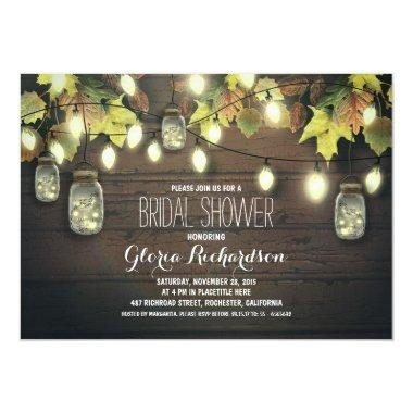 string of lights fall bridal shower Invitations