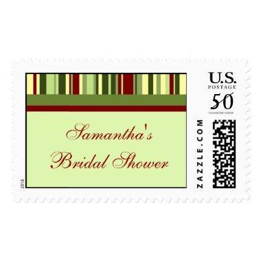 Stripes  Winter Wedding Stamp
