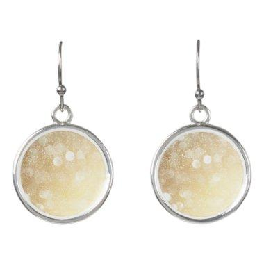 Stunning Bokeh Bling Glitter Gold & Silver Bokeh Earrings