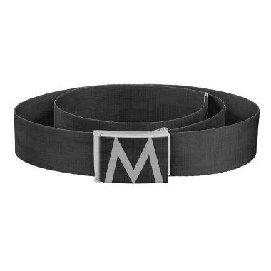 Stylish Black Monogram Belt