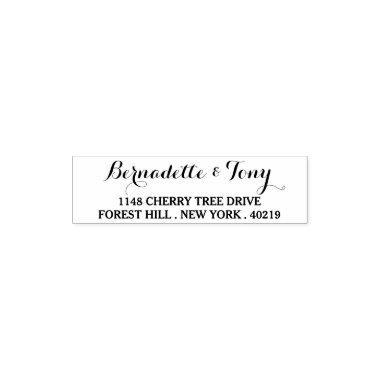 bridal shower stamps stylish custom name address self inking stamp