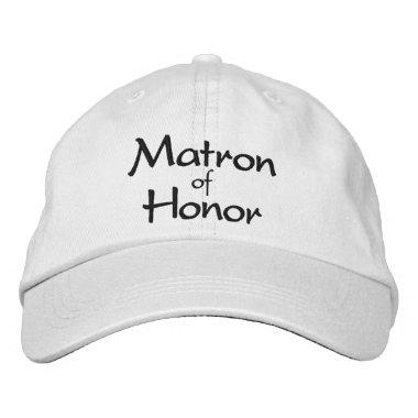 Stylish Matron of Honor Embroidered Cap