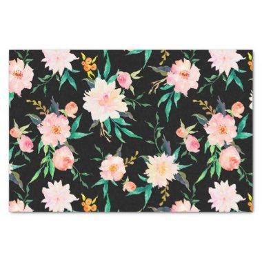 Stylish Modern Wedding Floral Roses Tissue Paper