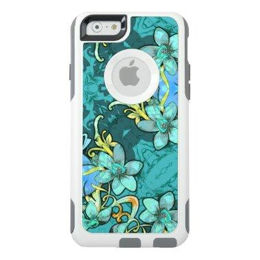 Stylish whimsical lux floral watercolor pattern OtterBox iPhone 6/6s case