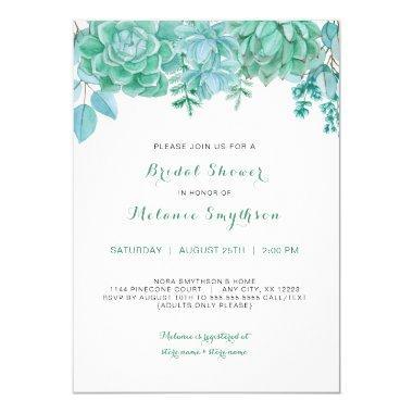 Succulent and eucalyptus  invite 3961