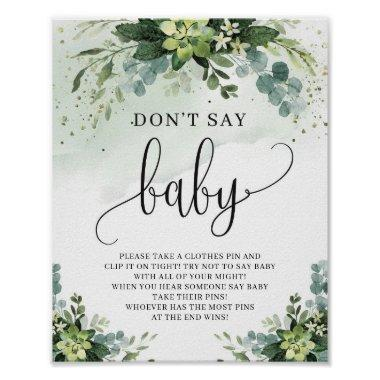 Succulent flowers eucalyptus don't say baby sign