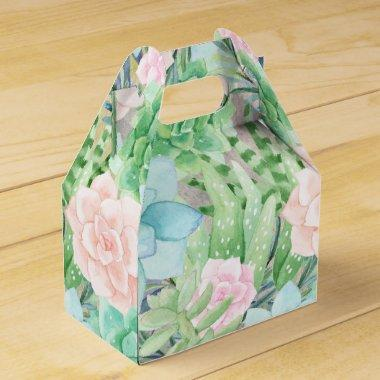 Succulents Flowers | Gorgeous Watercolor Favor Box