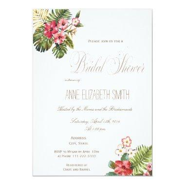 Summer floral Bridal Shower Invitations II