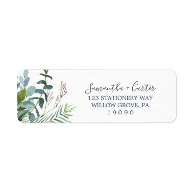 Summer Greenery Return Address Label
