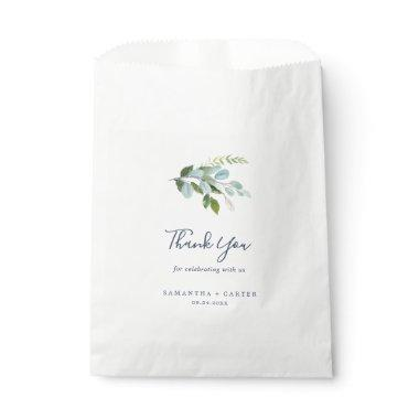 Summer Greenery Thank You Wedding Favor Bag
