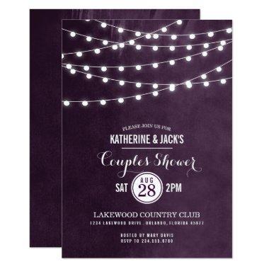 Summer String Lights Couples Shower