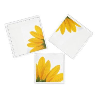 Sunflower Acrylic Serving Trays Set of 3