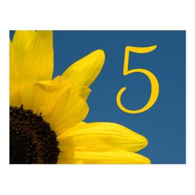 Sunflower and Sky Table Number
