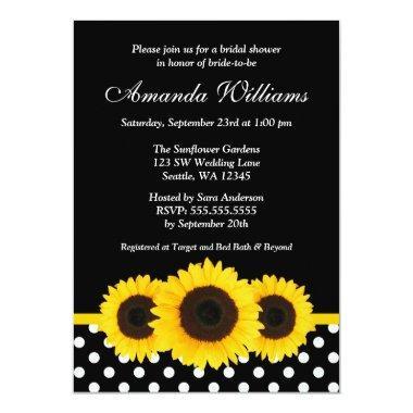 Sunflower Black and White Polka Dot