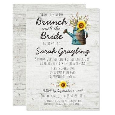 Sunflower & Rustic Wood Bridal Brunch