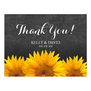 Sunflower Wedding Thank You Chalkboard Post