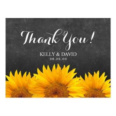 Sunflower Wedding Thank You Chalkboard Post