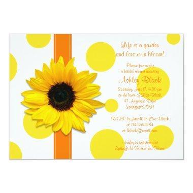 Sunflower Yellow Orange Polka Dot