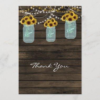 sunflowers mason jar  thank you