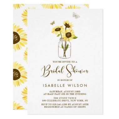 Sunflowers on Mason Jar Summer
