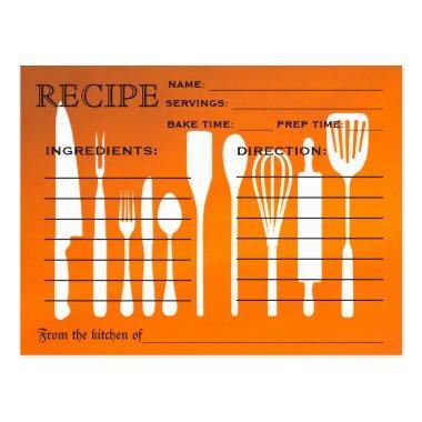 Sunset Orange Retro Recipe  Kitchen Tools