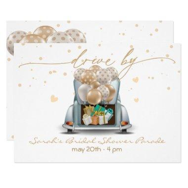 Surprise Drive Through Bridal Shower Parade 2 Invitations