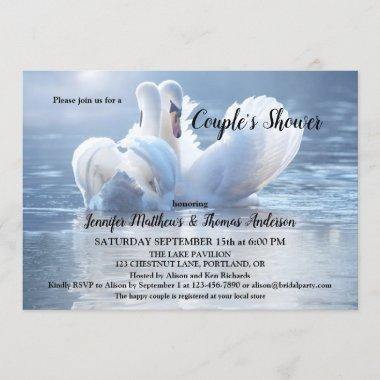 Swan Lake Bridal Couple Shower Invitations
