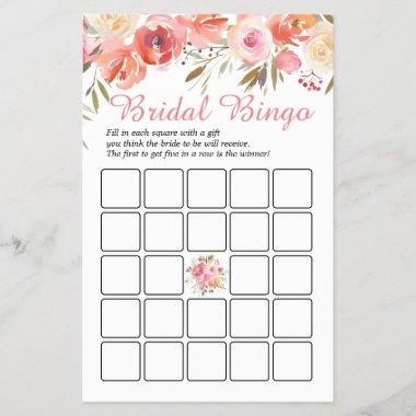 Sweet Blush Roses Double-Sided Bridal Shower Game