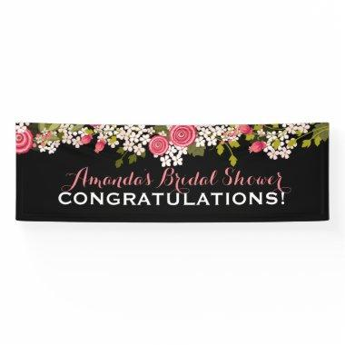 Sweet Floral  Congratulations Banner