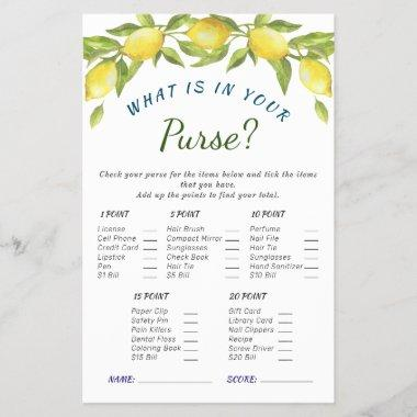 Sweet Lemons & Greenery Chic Bridal Shower Game