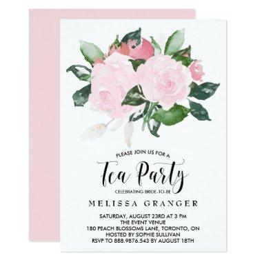 Sweet Pink Watercolor Roses Tea Party